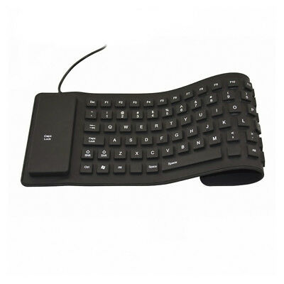 USB Mini Flexible Silicone Keyboard Foldable for Laptop Notebook Computer