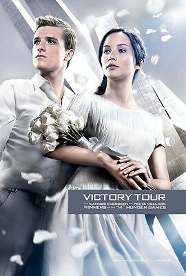 Hunger Games Catching Fire movie poster Jennifer Lawrence, Josh Hutcherson (VT)
