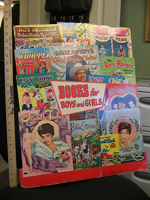 comic book display 53 Lucille Ball Liz Taylor Howdy Doody Roy Rogers Lone Ranger