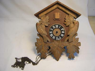 """Vintage Cuckoo/Coo Coo Clock West Germany 4 Parts/Restore 10 3/4"""" by 8 1/4"""""""