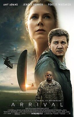"ARRIVAL 2016 Original DS 2 Sided 27X40"" US Movie Poster Amy Adams Jeremy Renner"