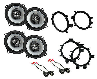 "New Kenwood 5.25"" 2-Way Sport Series Coaxial Front & Rear Door Speakers W Mounts"