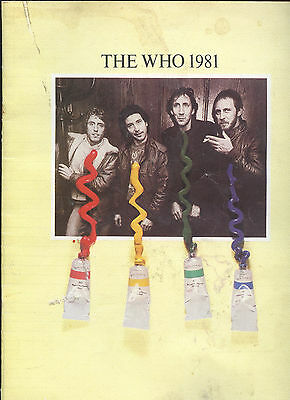 1981 The Who Concert Program