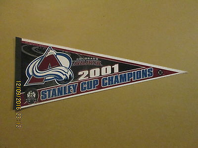 NHL Colorado Avalanche Vintage 2001 Stanley Cup Champions Style#2 Logo Pennant
