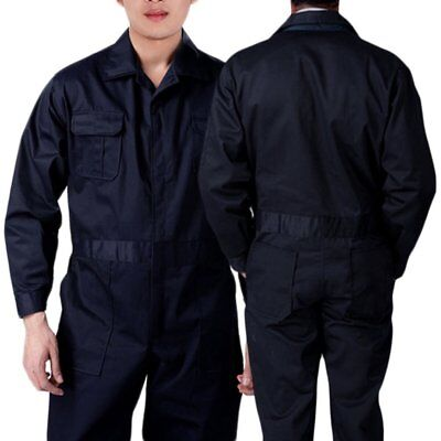 Black BOILER SUIT OVERALL COVERALL Mechanic college work MENS Newle Ship