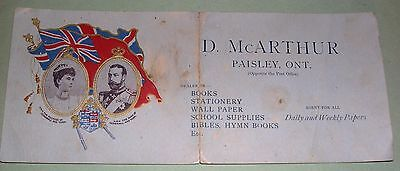 1901 Royal Visit of The Duke and Duchess of Cornwall and York to Paisley Ontario