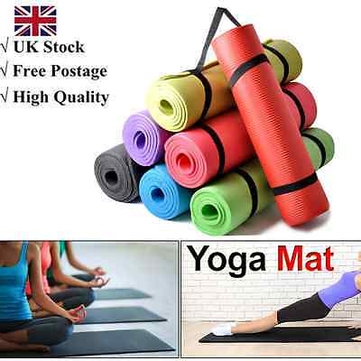183*61*1/1.5CM Non Slip Yoga Mat Exercise Fitness Physio Pilates Camping Gym