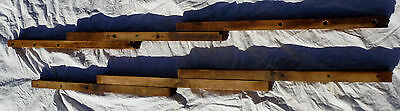 Two Vtg Antique Wooden Table Extension Slides For Repairing or Building Table