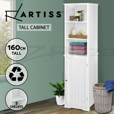 Bathroom Tallboy Furniture Toilet Storage Cabinet Laundry Cupboard Tall Boy