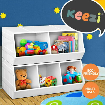 Free Shipping Kids Toy Box Storage Cabinet Stackable Bookcase Rack Bookshelf