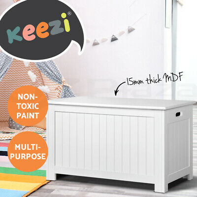 Artiss Kids Toy Box Storage Chest Cabinet Children Organiser White Container