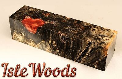 High Contrast Stabilized Buckeye Burl Knife Scales Game Calls  BKY1822