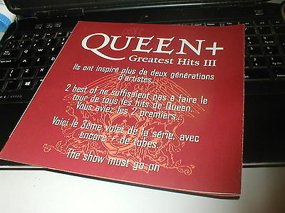 Queen Greatest Hits 3.rare French Promo Booklet For The Release