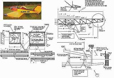 ULTRA BABY AIRCRAFT PLANS ON CD Experimental  Ultralight Plane RARE FREE EXTRAS