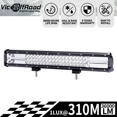 20inch LED Light Bar Spot Flood Combo Offroad Driving Work 4WD Truck 4X4