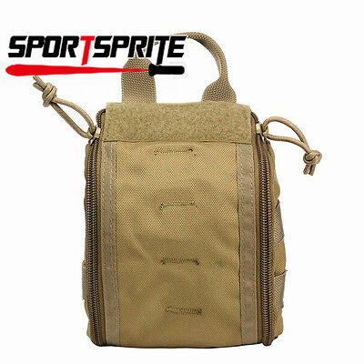 Molle Tactical EDC Utility Tools Bag Medical First Aid Accessory Pouch Case Tan