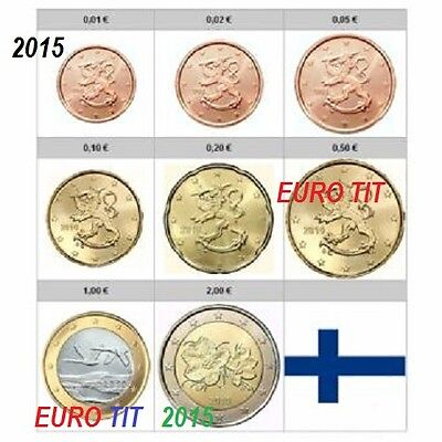 SERIE   2015   FINLANDE    RARE    NEUVES    8   PIECES      /    disponible