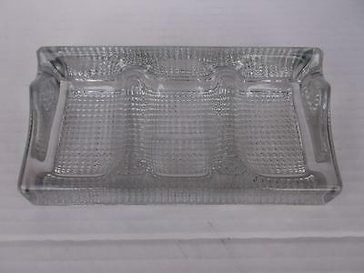 851 / Early 20Th Century English Made Heavy Pressed Glass Pipe Rest For 3 Pipes