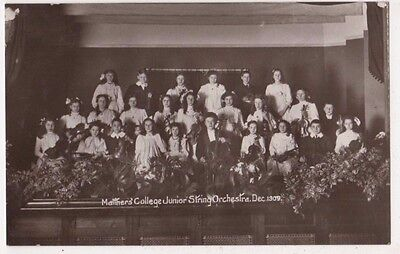 Matthers College Junior String Orchestra 1909 RP Postcard, B609