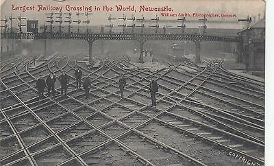 Newcastle Central Station, Largest Railway Crossing in the World Postcard