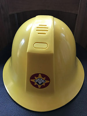 Fireman Sam Helmet with Sounds FWO Dress Up Fancy Dress Hat with Chin Strap