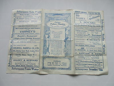 1928 Chelsea Palace Theatre Programme The Silent House