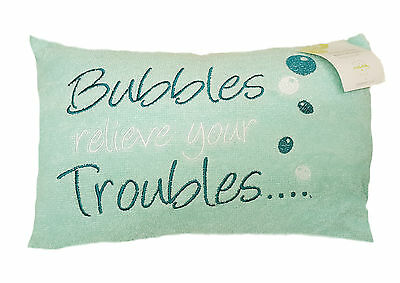 Bath Pillow Bubbles Aqua