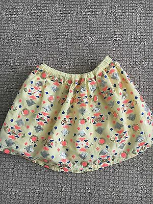 Seed Girl's Gold Sequin Skirt Size 5-6