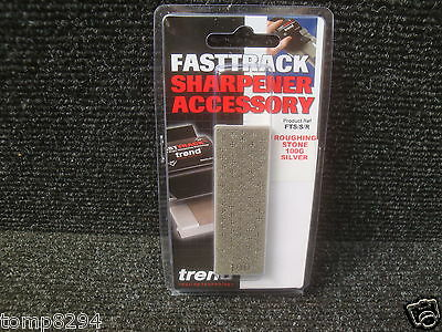 Trend Fast Track Diamond Roughing Stone Silver 100 Grit Fts/s/r