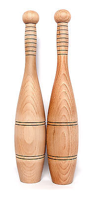 Indian Wooden Clubs(Small/Pair) - Military size, Training/Swinging, Clubbells,