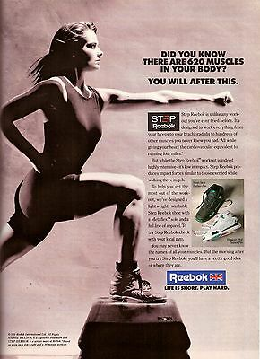 1991 Reebok Running Shoes Sneakers Retro Print Ad Vintage Advertisement VTG 90s