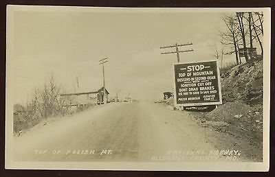 Real Photo Postcard~Polish Mountain,Flintstone,Maryland MD~ Mountain Top~1930s