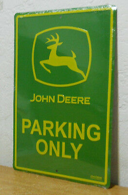"John Deere Metal Sign  "" Parking Only ""   New  12 x 18"