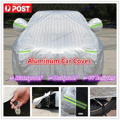 Premium Double thick waterproof car cover rain resistant UV dust protection