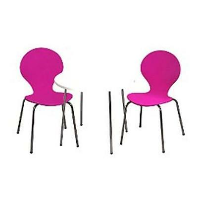 Giftmark 3012PU Modern Childrens Table and 2 Chair Set with Chrome Legs Purple