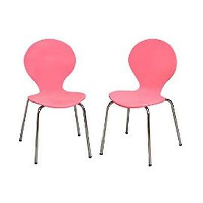 Giftmark 3013P Modern Childrens 2 Chair Set with Chrome Legs Pink
