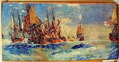 Vintage 500 piece Old Wooden Jigsaw Puzzle.
