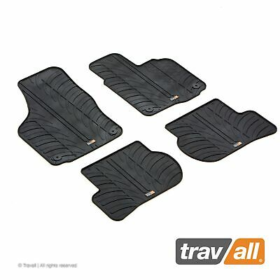 2013- TRAVALL RUBBER FLOOR MATS SKODA OCTAVIA RHD SET OF 4 /& FIXINGS