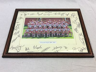 Gloucester Rugby Union Football signed team photograph 2009-'10 F&G BRISTOL