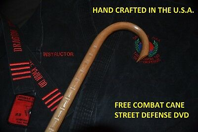 Combat Cane- Self Defense- Martial Arts- Custom Oak Cane-Street Defense