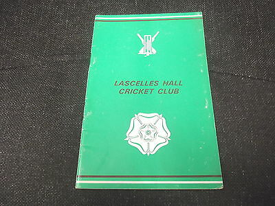 The History of Lascelles Hall Cricket Club 1825-1968