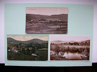ABERGAVENNY, Monmouthshire - 3 old postcards