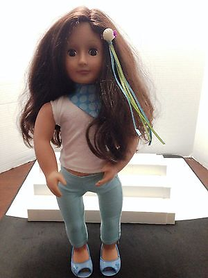 """Battat Our Generation 18"""" Doll With Brown Hair & Brown Eyes"""