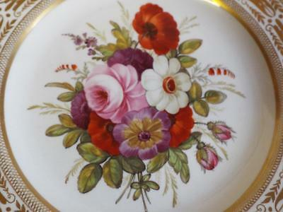 Lovely antique hand painted floral porcelain plate.