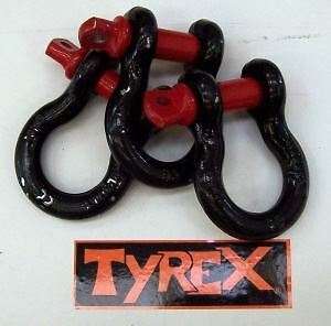Raptor 4x4 Tyrex Bow U Recovery Shackle 4.75 Tonne Towing Tow Pull
