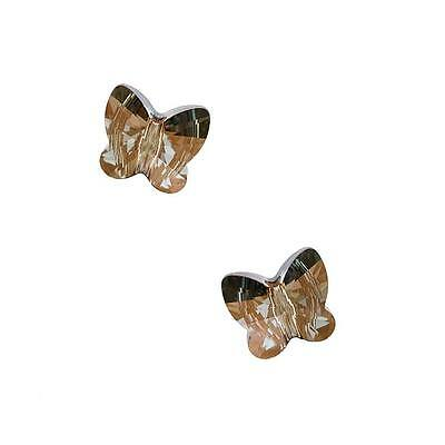 Swarovski Crystal, #5754 Butterfly Beads 10mm, 2 Pieces, Crystal Bronze Shade