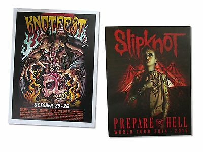Slipknot 2 Piece Wall Poster Gift Set New Official Heavy Metal Knotfest Hell