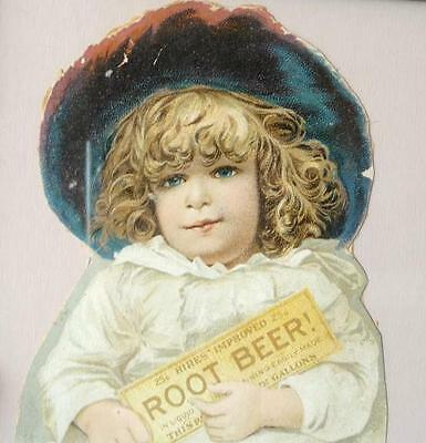 1800's Hires Root Beer, Cut Out, Trade Card, Darling Little Girl