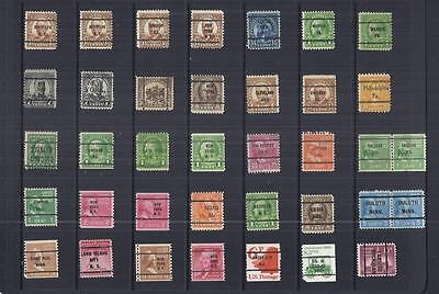 y128 United States / Precancels / A Small Collection Early & Modern Used