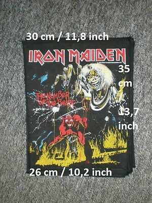 """Original IRON MAIDEN """"the number of the beast"""" rückenaufnäher backpatch patch"""